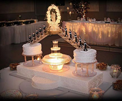 Wedding Cakes With Fountains And Stairs Pictures