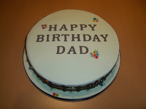 Birthday Cake For Dad White